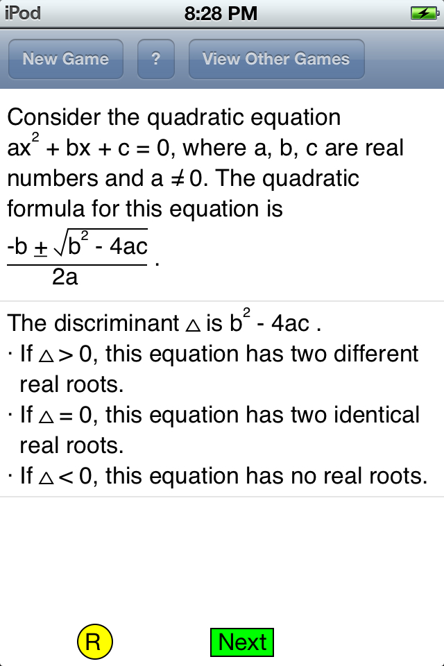 rules of discriminant