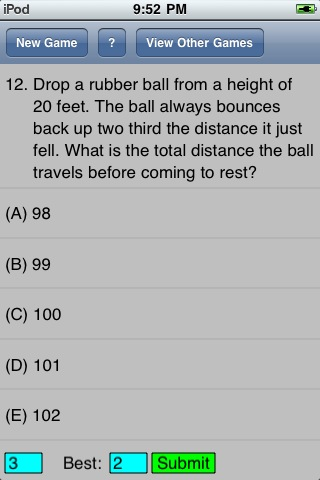 the rubber ball question