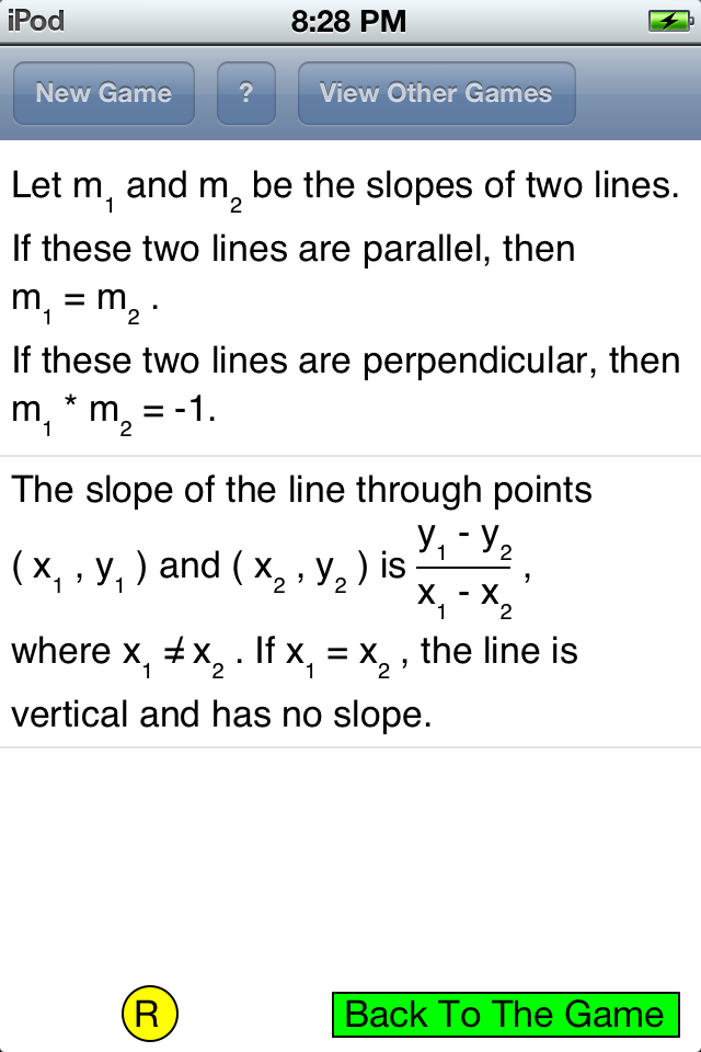 slopes of line segments